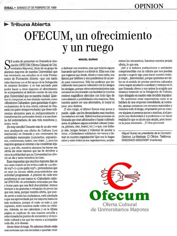 Articulo D. Miguel Guirao